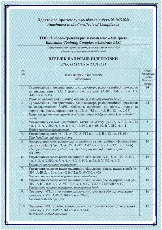 Certificate of Compliance 6/2020 (Attachment 1 page)