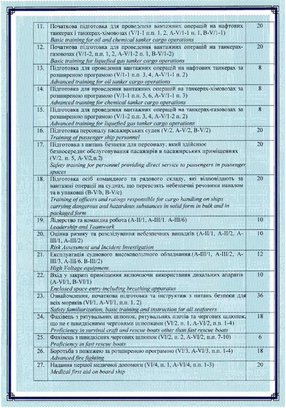 Certificate of Compliance 6/2020 (Attachment 2 page)